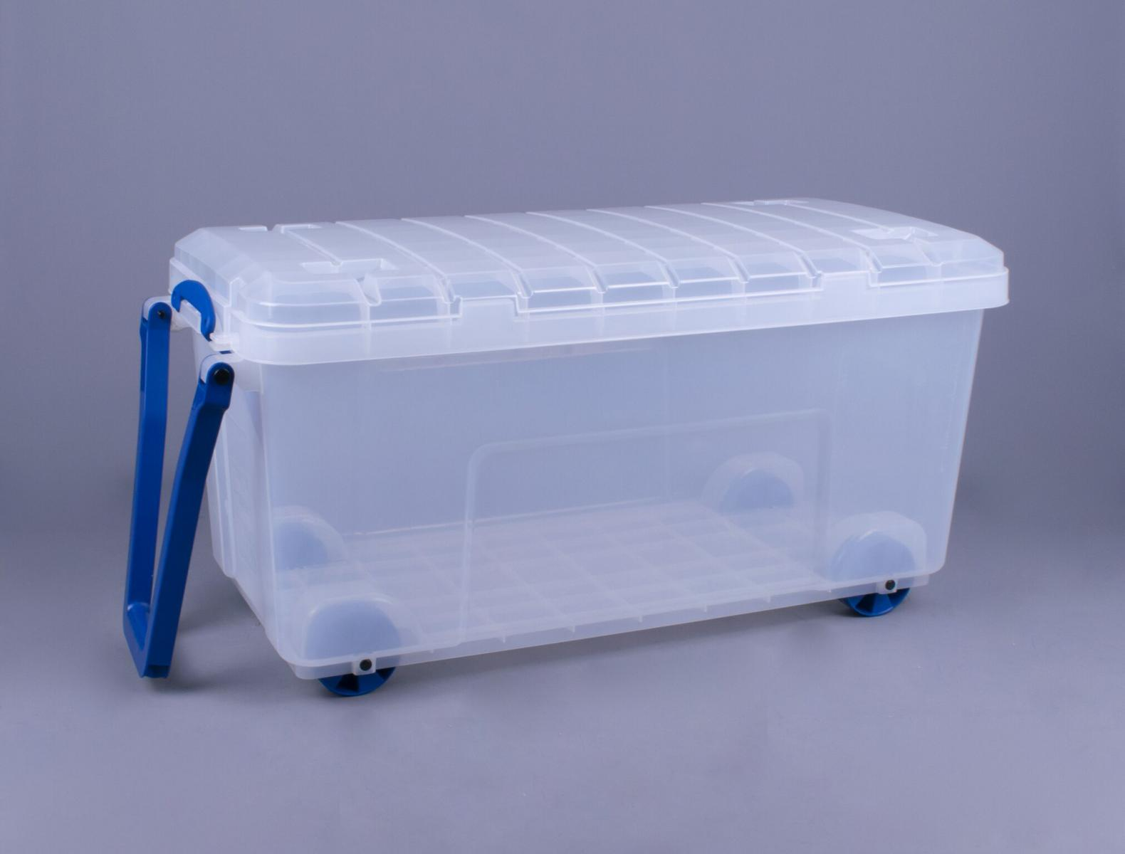 Really Useful Box 160 Litre Wheeled Box With Lid Clip And
