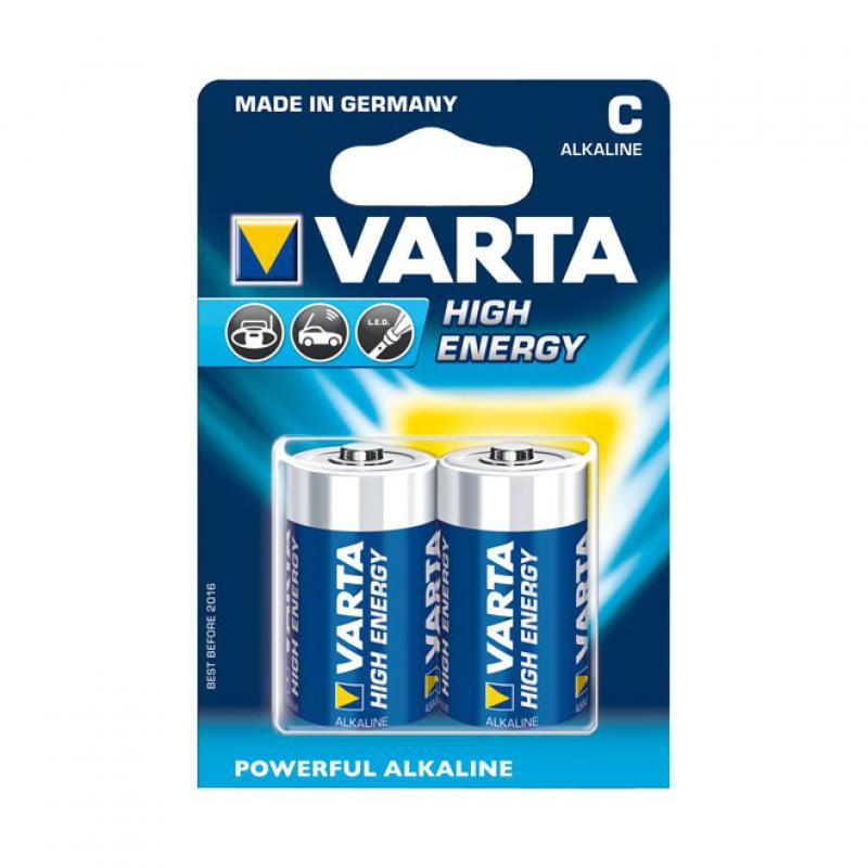 Varta Highenergy Alkaline Batteries C Lr14 1 5v 2 Pack
