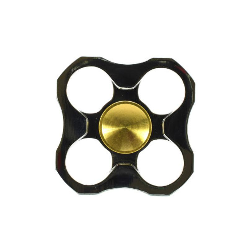 Fidget Spinner Deluxe Quattro Metall Anti Stress Konzentration