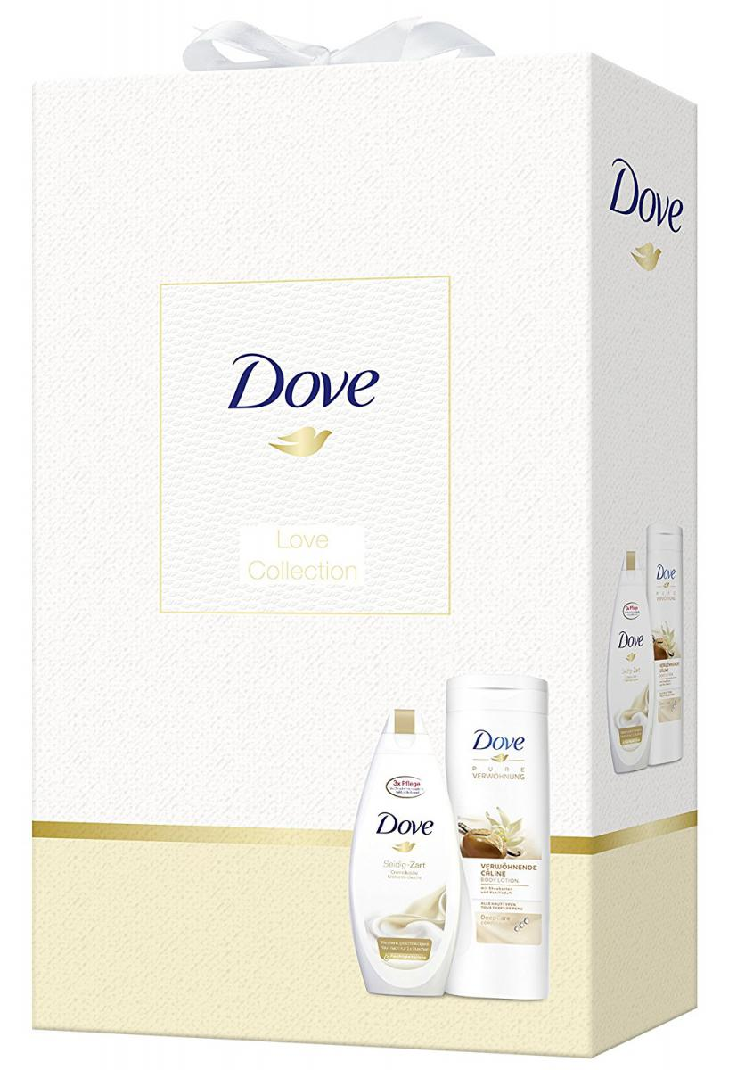 Dove Gift Set - Love Collection - Shower Gel Silky Delicate 250 ml & Body  Lotion Shea Butter 400 ml