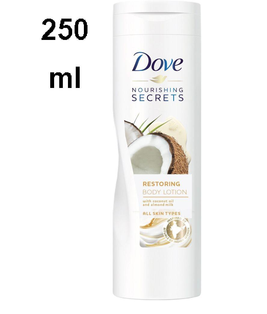 Dove Body Lotion Restoring Ritual Coconut Almond For All Skin Types 250 Ml