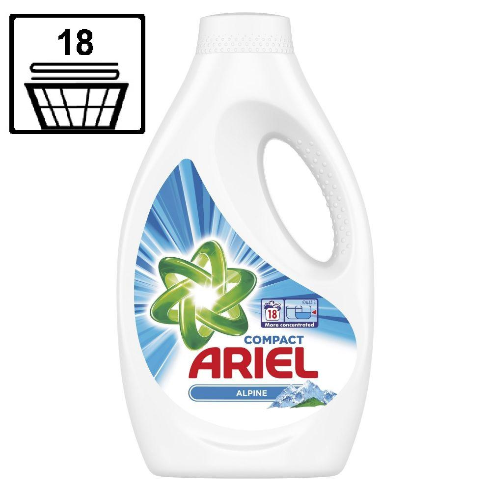 ARIEL Liquid Detergent Compact - Alpine - 990 ml / 18 washes