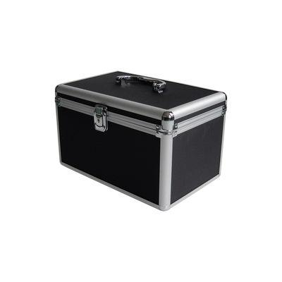 MediaRange Archiving case for 120 discs, aluminum look, with shoulder straps, black