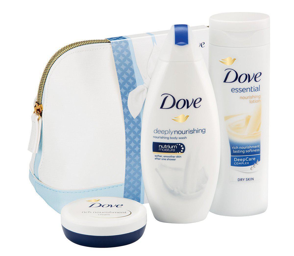 beauty care shower_Dove Women Gift - Beauty Care Collection (Shower Gel + Bodylotion + Nourishment Cream)