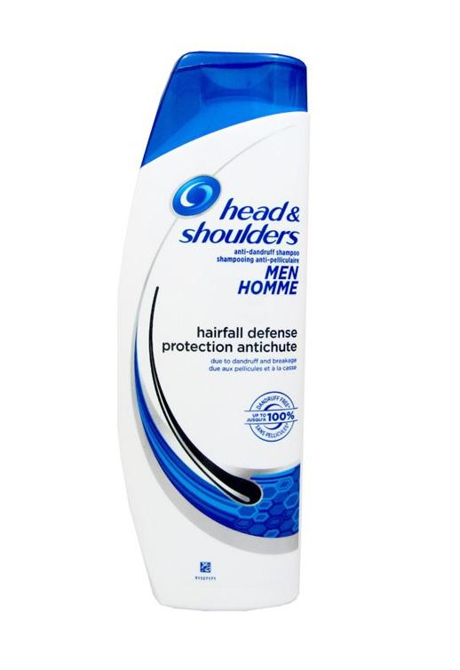 Head Shoulders Shampoo Men Hairfall Defense Reduces Hair Loss Caused By Hair Breakage 400 Ml