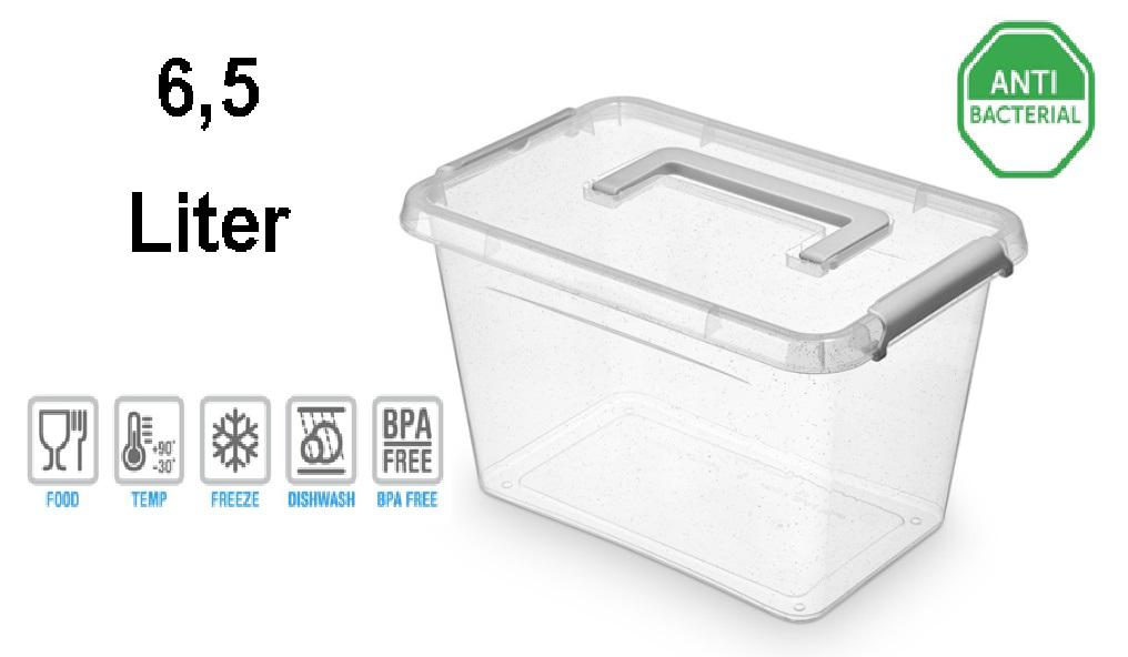Nano box with lid clips and handles antibacterial effect 65