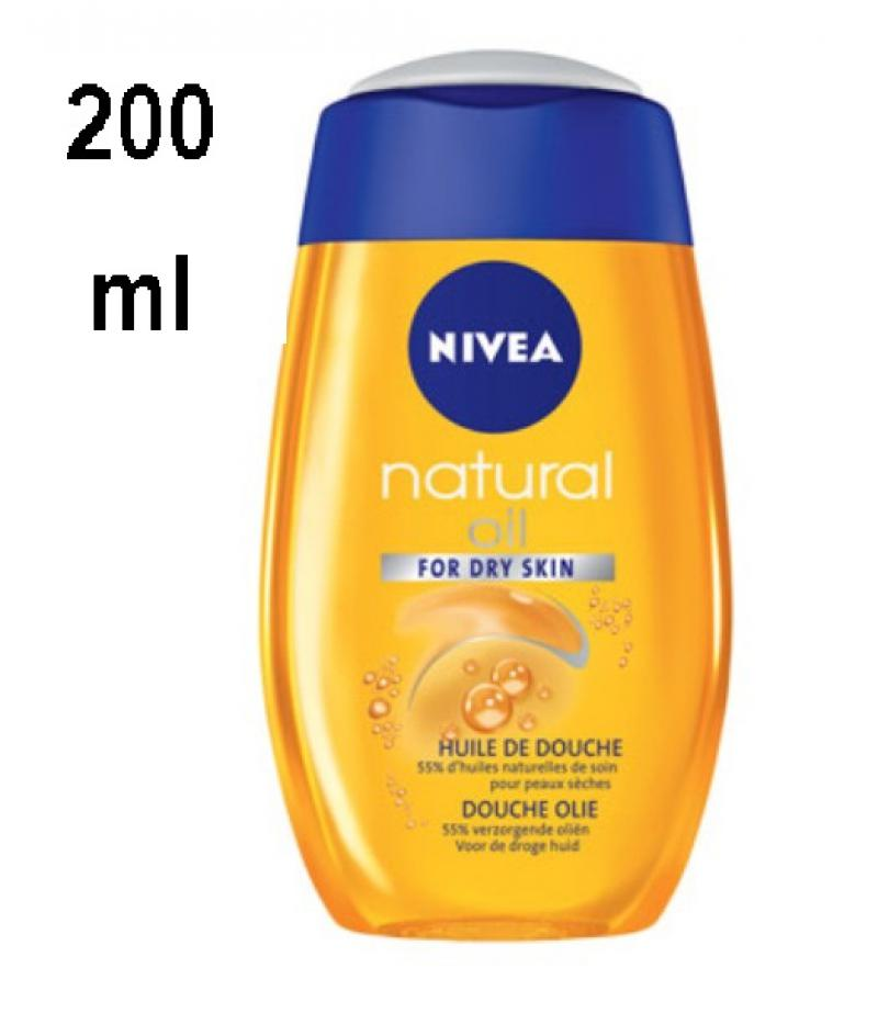 Nivea Natural Shower oil - for dry skin - 200 ml