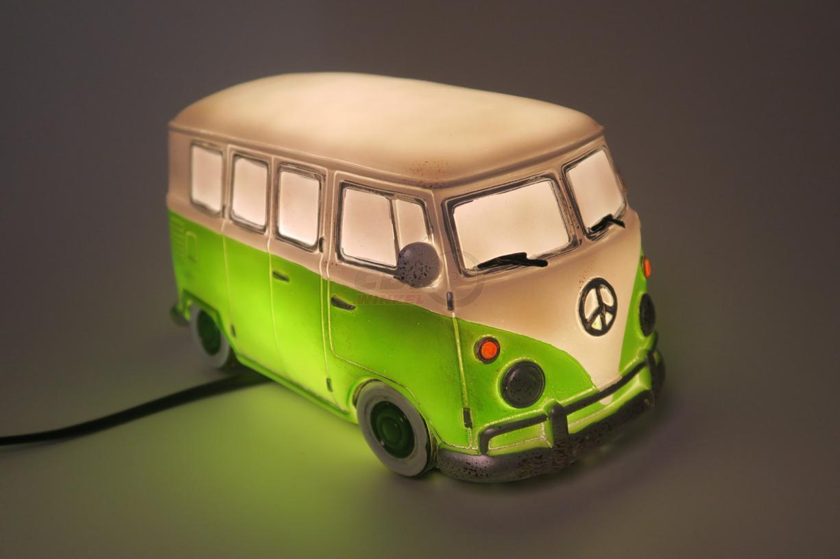 volkswagen vw bus tischlampe nachtlampe f r kinderzimmer gr n. Black Bedroom Furniture Sets. Home Design Ideas