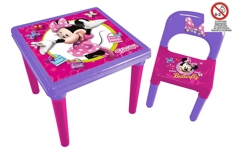 Minnie Table En Plastique Avec Chaise 45 X 45 X 11 5 Cm